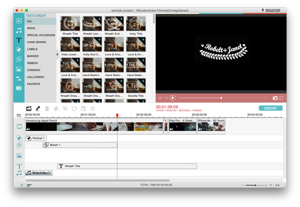 Windows Movie Maker for Mac Title